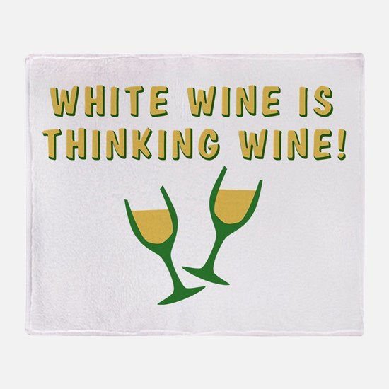 cougar-town-thinking-wine Throw Blanket