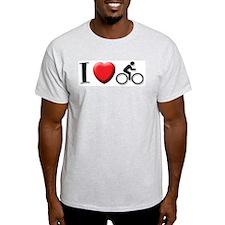 I (HEART) CYCLING Ash Grey T-Shirt