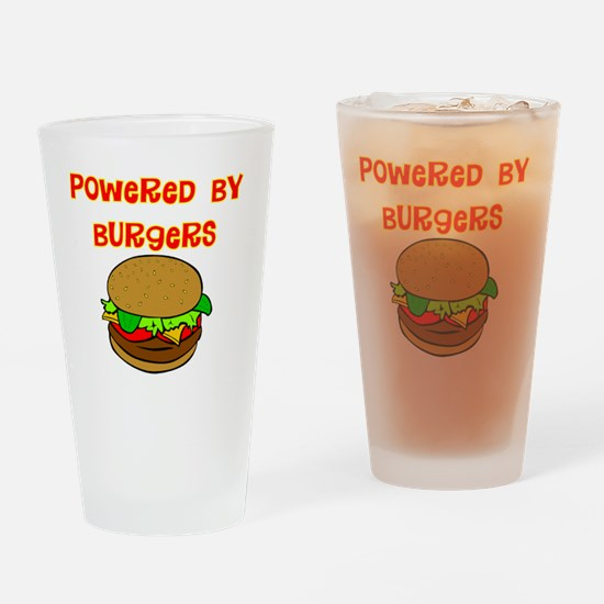 powered by Burgers DARKS Drinking Glass
