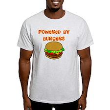 powered by Burgers DARKS T-Shirt