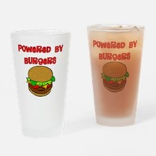 Powered by Burgers Drinking Glass
