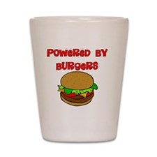 Powered by Burgers Shot Glass