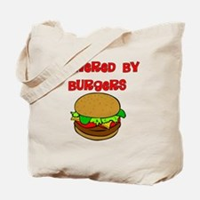 Powered by Burgers Tote Bag