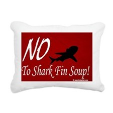 no-shark-fin-soup2 Rectangular Canvas Pillow