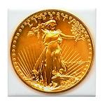 Gold Liberty Tile Coaster