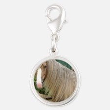 frostybarn1headsoftlge large Silver Round Charm