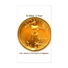 Gold & Liberty Rectangle Decal