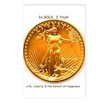 Gold & Liberty Postcards (Pkg of 8)