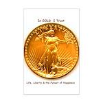 Gold & Liberty Mini Poster Print