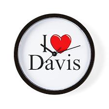 """I Love Davis"" Wall Clock"