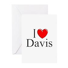 """""""I Love Davis"""" Greeting Cards (Pk of 10)"""