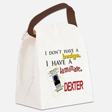 Dexter badge laminate Canvas Lunch Bag