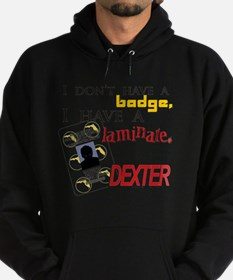 Dexter badge laminate Hoodie (dark)