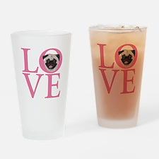Love Pug - Drinking Glass