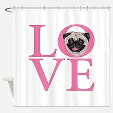 Love Pug - Shower Curtain