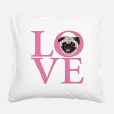 Love Pug - Square Canvas Pillow
