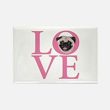 Love Pug - Rectangle Magnet (10 pack)