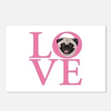 Love Pug - Postcards (Package of 8)