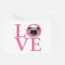 Love Pug - Greeting Cards (Pk of 10)