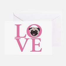 Love Pug - Greeting Card