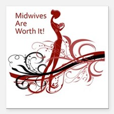 "midwives Square Car Magnet 3"" x 3"""