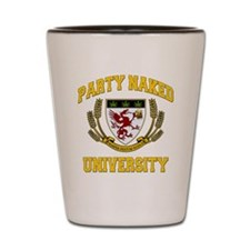 PARTY_NAKED_UNIVERSITY_stadium_blanket Shot Glass
