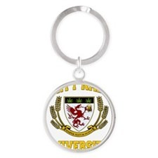 PARTY_NAKED_UNIVERSITY_stadium_blan Round Keychain