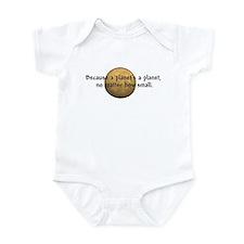 Cute Funny pluto Infant Bodysuit