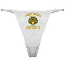 PARTY_NAKED_stadium_blanket Classic Thong
