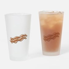 powered by bacon New Dark Shirt Drinking Glass