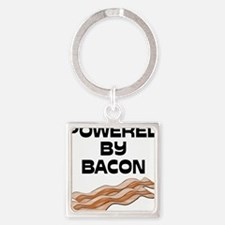 powered by bacon New Square Keychain
