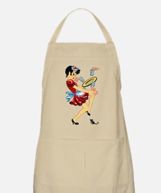 Retro Waitress Mouse Scare Apron