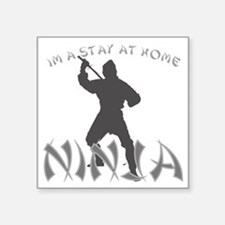 "ninja Square Sticker 3"" x 3"""