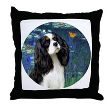 J-Orn-Lilies5t-Tri Cavalier Throw Pillow