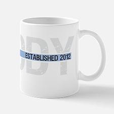 daddy est 2012 with banner2_dark Mug