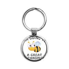 BeeGreatGrandma Round Keychain
