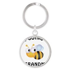 BeeGrandma Round Keychain