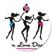 Dance Shirt LiveLoveDance Round Car Magnet