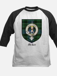 McKee Clan Crest Tartan Kids Baseball Jersey