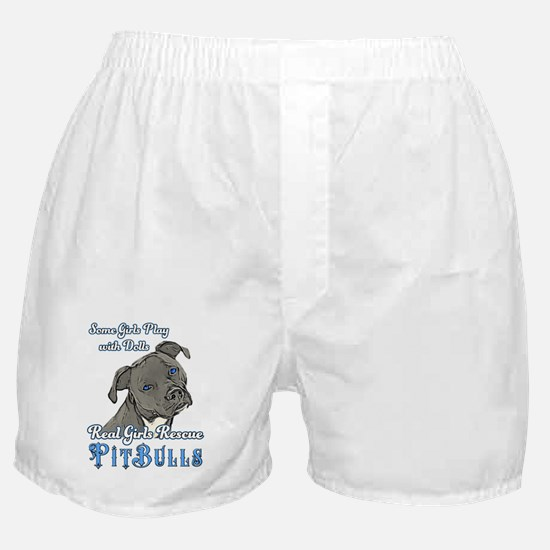 Real Girls Rescue Pitbulls Boxer Shorts
