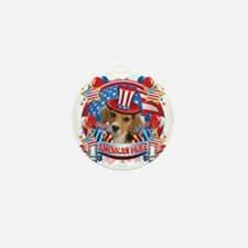 American Pride Beagle Mini Button