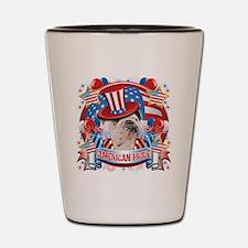 American Pride Bulldog Shot Glass