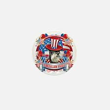 American Pride Miniature Schnauzer Mini Button