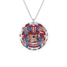 American Pride Chihuahua Necklace