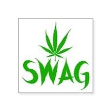 "weedSwag Square Sticker 3"" x 3"""