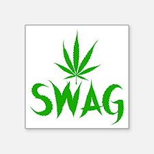 "weedSwag Square Sticker 3"" x 3"""