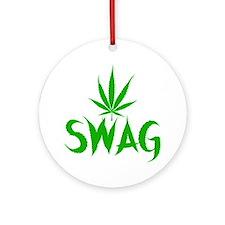 weedSwag Round Ornament