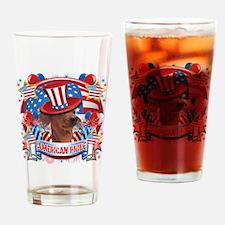 American Pride Dachshund Drinking Glass