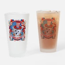 American Pride Schnoodle Drinking Glass