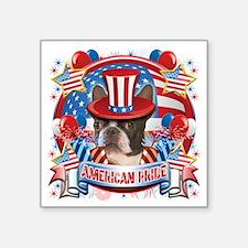 """American Pride Boston Terri Square Sticker 3"""" x 3"""""""